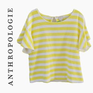 ANTHROPOLOGIE | POSTAGE STAMP YELLOW STRIPE TSHIRT